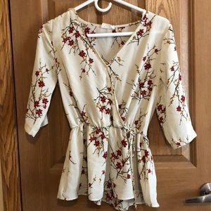 Floral top size S